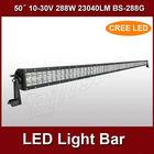 hotsale 50inch 288w waterproof flood spot combo beam lamp cree led light bar BS-288G