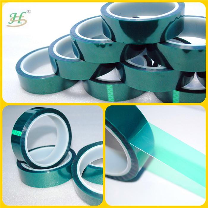 Verde 260C resistente ao calor do Metal ou plástico adesiva poliéster Silicone nenhum resíduo fita adesiva