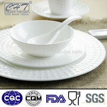 High grade royal white fine porcelain china dinner set