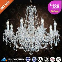 8 lights chrome led chandelier lighting fixture