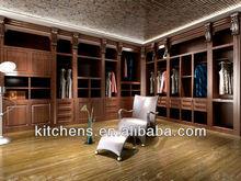 2015 new solid wood bedroom wardrobe designs AGW-001