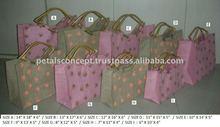 Jute tote bag with printed design