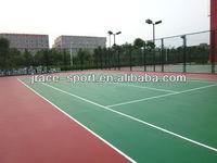 no-toxic and environmental friendly tennis court flooring materials