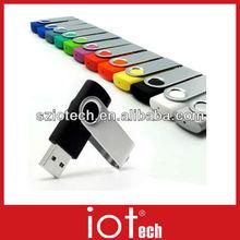 Free Logo Printed Promotional Swivel USB Stick