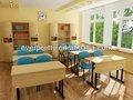 2013 nuevo diseño moderno doble estudiante silla de escritorio, Elegante doble de escritorio del estudiante y silla, Doble de la escuela melamina superior