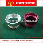 OEM aluminum extrusion cnc machining anodized connection parts
