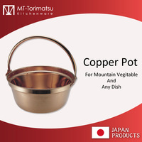 MT Copper Cooking Pots used for edible wild greens 33cm Made In Japan