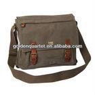 fashion canvas messenger bag(BSCI, ICTI, SA8000 and social audit factory)