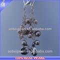 Alibaba e-ab0116 hotsale pérola de jóias de design de crochê artesanal brinco