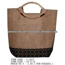 Market used jute tote bag