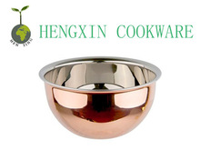 6.3inch copper triply salad bowl
