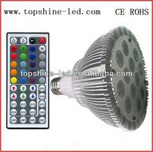 IR remote control LED RGB 12W PAR38 Bulb/ led par