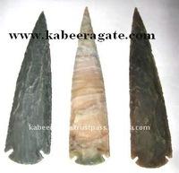 Indian Agate Hand Knapped Arrowheads