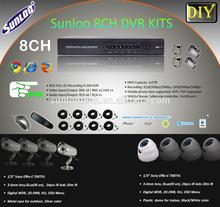 8ch DVR kits about 1/3'' sony 420tvl camera