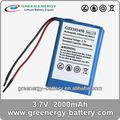 3.7v pequena bateria recarregável li-ion bateria 2000 mah li-ion 103450