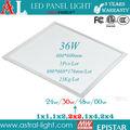 Led panel kare ultraince tavan, 60x60 36w ultraince LED paneli ışık, smd2835 ce rohs 3 yıl garanti