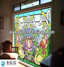 Alta calidad moderno de colores de vidrio diseña fábrica con CCC ISO del CE