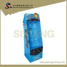 Shenzhen Factory Desgin Blue 9 Plastic Hooks Display unit