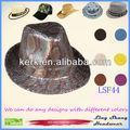 lsf44 bajo precio al por mayor de moda de tela brillante sombrero de fieltro de gorras y sombreros de vaquero de algodón tapas