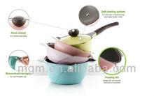 Korea design die casting cookware 2015 new rose cookware set
