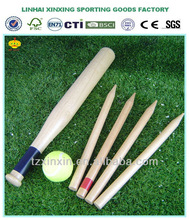 wood mini baseball bat for kids garden game