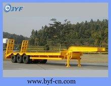 BYF low flat bed semi trailer