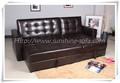 Canto sofá de couro/sofá de canto do dorminhoco
