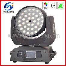 Sound control 36 10w RGBW led zoom moving head lights