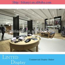 MDF department clothing display furniture store display racks for retail display furniture
