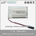 Batterie d'alimentation de secours fournitures GEP433048 580 mAh lipo batterie