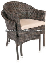 CH-S2 with aluminum frame wicker chair and table,wicker chair,wicker bullet chair