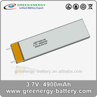 3.7v ultra thin polymer lithium-ion battery recharge 4900mah GEP7545135