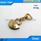 No.20171 light gold metal handbag chain with half oval shape 45.8g