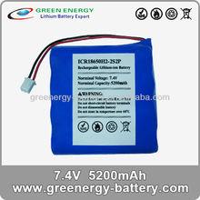 7.4v 5200 mAh ICR 18650h2- 2s2p18650 batteria al litio ricaricabile