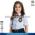Uniforme da escola primária, estudante de camisa, projeto da camisa
