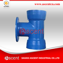 Epoxy double socket flange branch tee in the stqandard of ISO2531