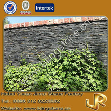 Exterior black slate stone facades for walls