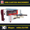 Rotary die cutting machine for corrugated cardboard box