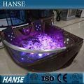 Hs-b219 baño de burbujas del color del café de la esquina masaje doble de hidromasaje