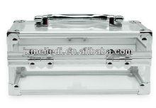 transparent small acrylic aluminum vanity case cosmetics case
