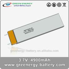 lithium polymer battery rechargable 3.7V 4900mAh 7545135
