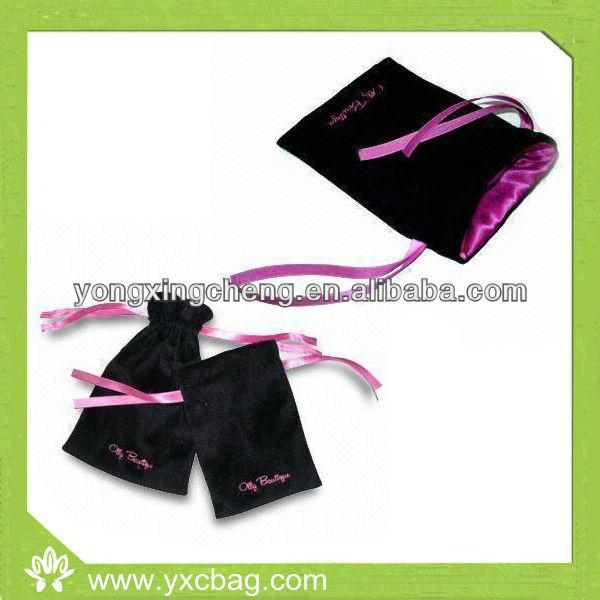 Printed Small Velvet Gift Bag