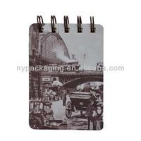thick spiral notebook/cool spiral notebook/chipboard spiral notebook