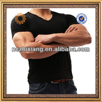 2015 hot 95 cotton 5 spandex muscle mens tight fit t shirt