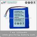 Rc rechargeable batteries haute vie batterie power pack de la 7.4 v 5200 mah