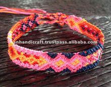 handmade friendship bracelet cotton woven bracelet Peruvian friendship bracelet
