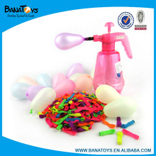 Colorful water latex balloon with inflator