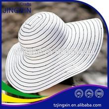 lady's floppy braided hat wide brim hat summer beach hat