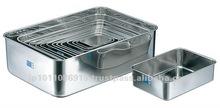 SUS304 Durable Stainless Steel Deep Food Container Small Kitchen Utensils Japanese Kaku Vat Rectangular Vat