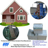 Concrete retaining wall blocks and structural insulated panel homes